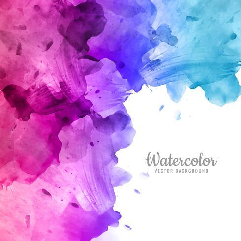 Elegante diseño de acuarela colorido vector