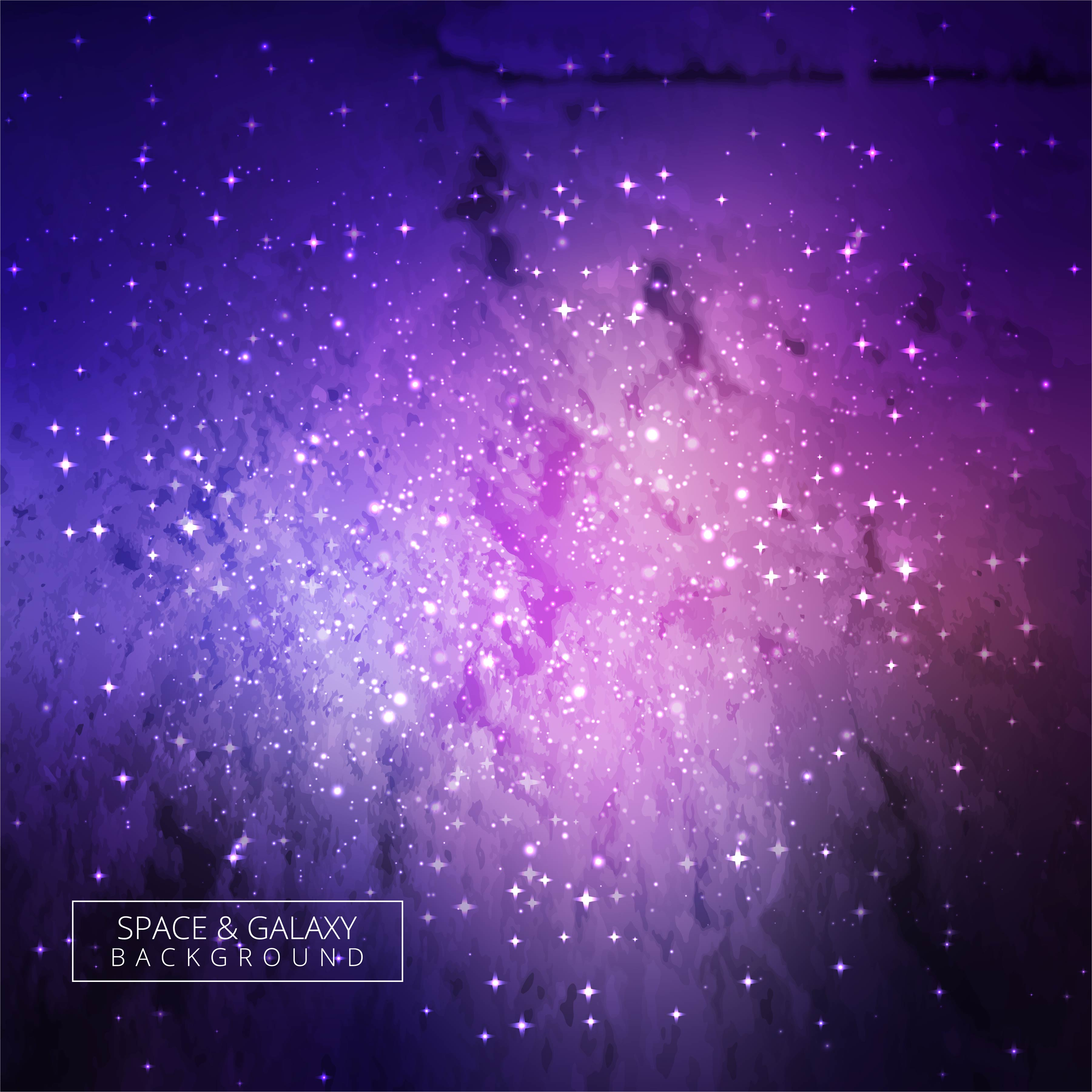 Galaxy Universe Colorful Background Vector