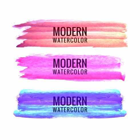 Hand draw colorful watercolor stroke design