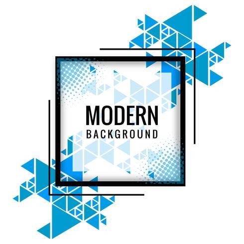 Vecteur de fond de forme polygonale bleu moderne
