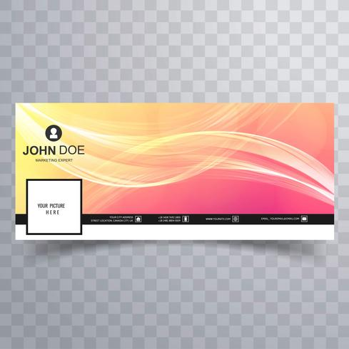 Abstract facebook timeline cover colorful template