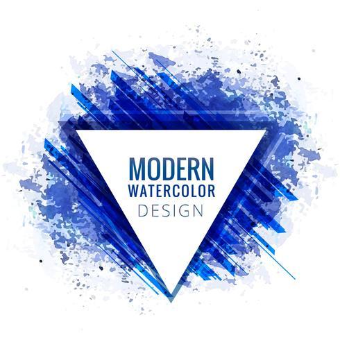 Fond élégant aquarelle bleu moderne