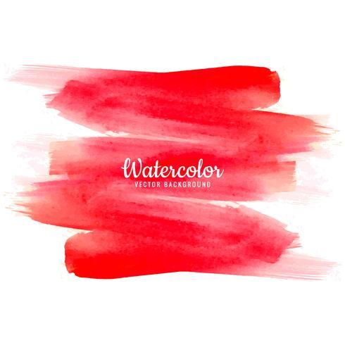 Mão de aquarela abstrata vermelha desenhar fundo do traçado