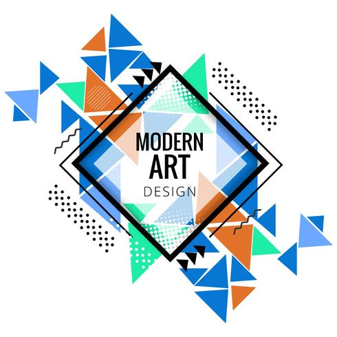 Modern colorful polygonal background vector