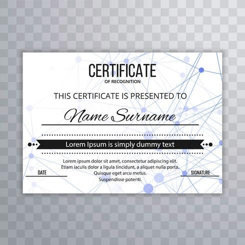 Abstrakt certifikatmall bakgrunds illustration