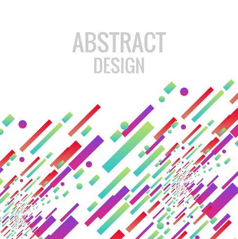 Ilustração de fundo abstrato colorido linha brilhante