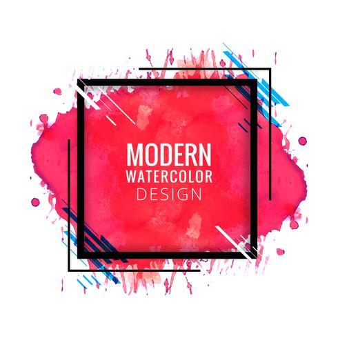Fundo moderno em aquarela colorido