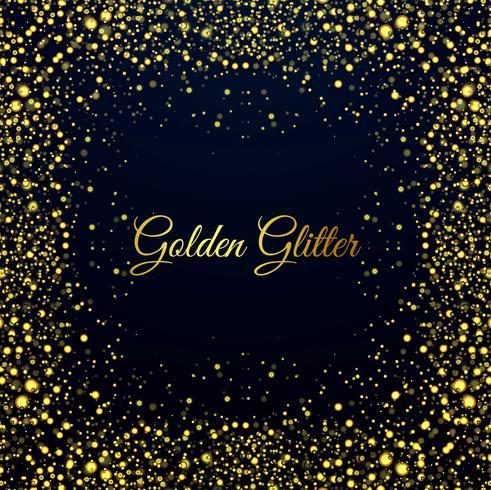 Fond brillant de beaux paillettes dorées