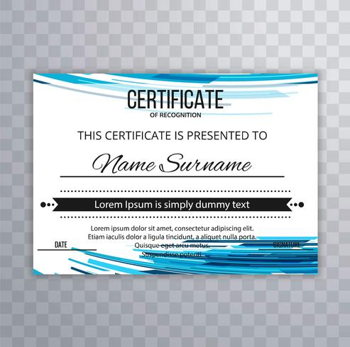 Abstract certificate template wave background