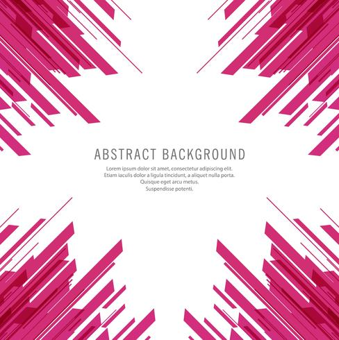 Abstract pink line shape background vector