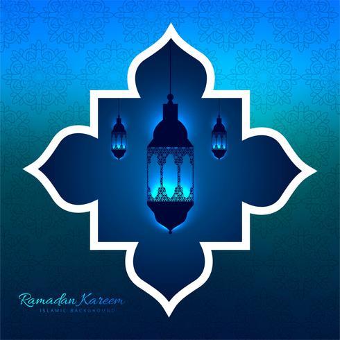 Ramadan Kareem dekorativa hängande lyktor bakgrund