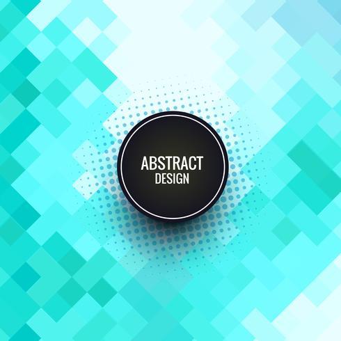 Hermoso fondo creativo mosaico azul vector