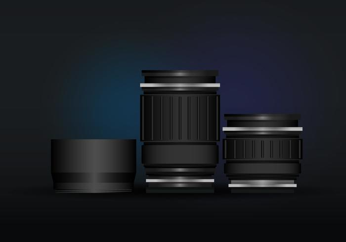 Realistic DSLR Lens and Lens Hood