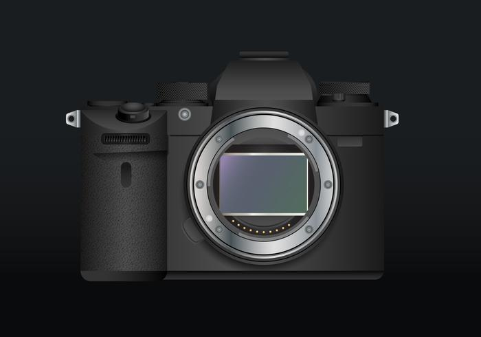 Appareil photo reflex numérique réaliste, appareil photo sans miroir réaliste