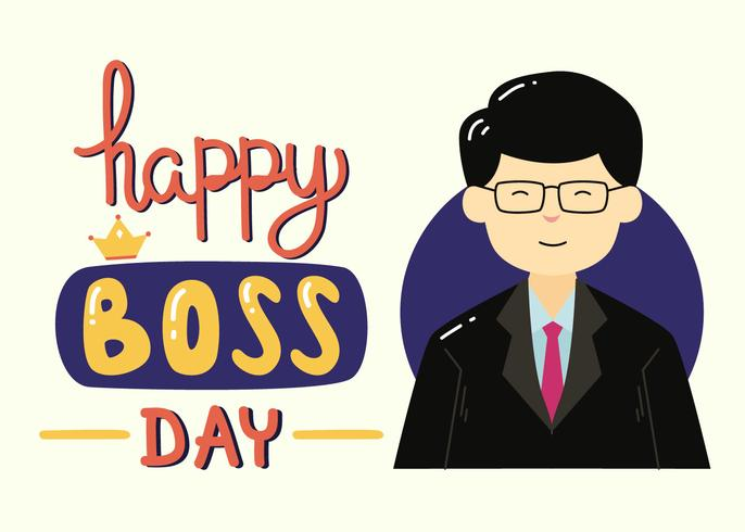 Happy National Boss Day Vector