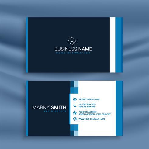 professionelle blaue Visitenkarte Vorlage
