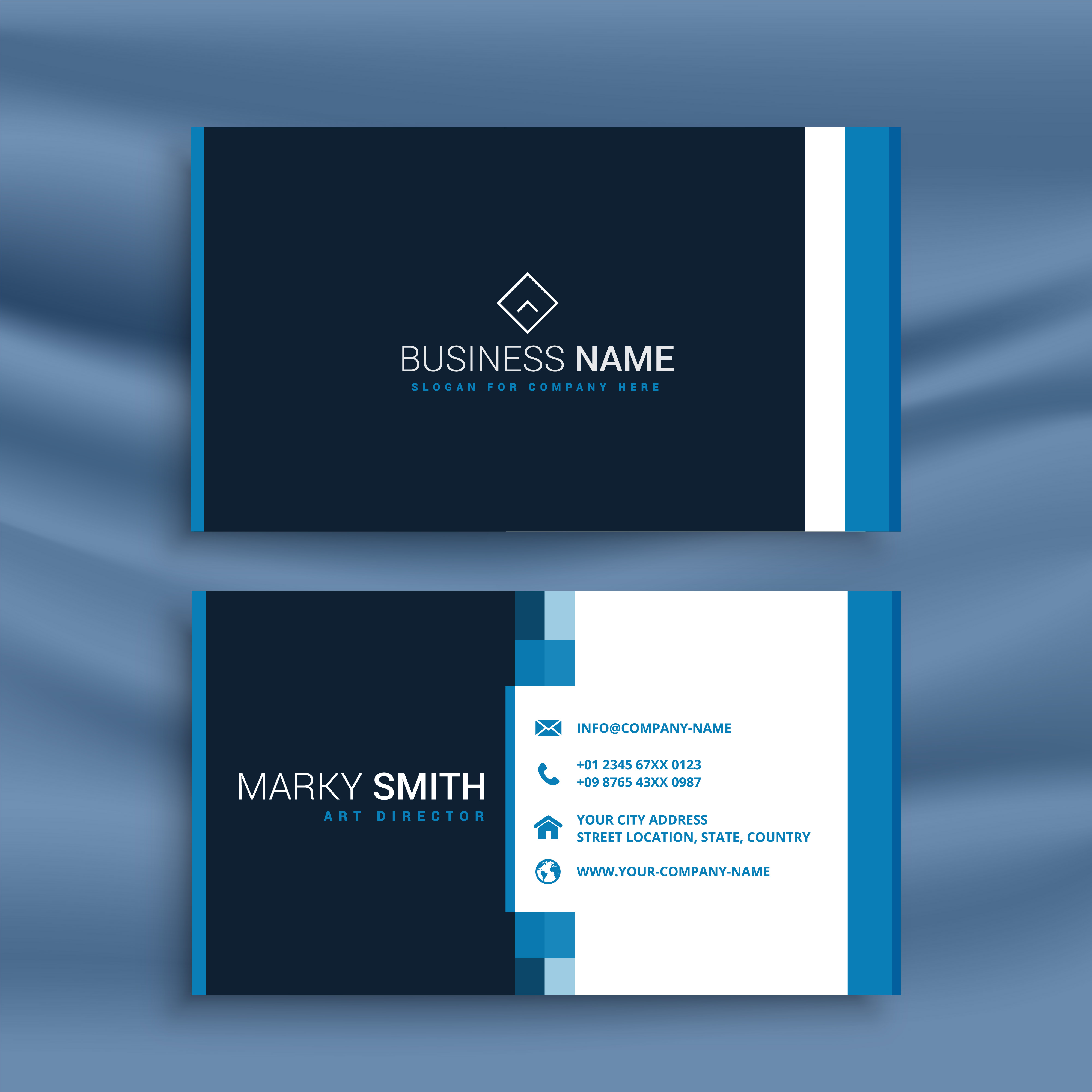 Professional blue business card template download free vector art professional blue business card template download free vector art stock graphics images flashek Choice Image