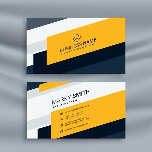 modèle de carte de visite jaune créatif