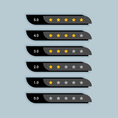 Sternebewertung kreatives Symbol für schwarzes Thema