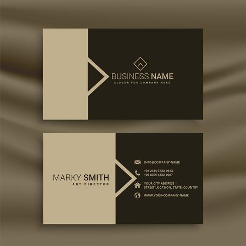 design de cartão de visita em estilo minimalista