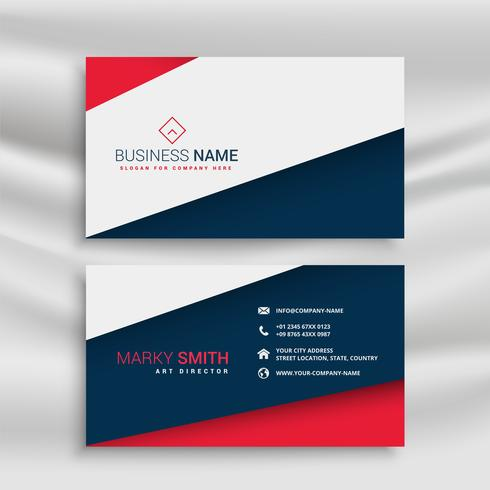 diseño de tarjeta de visita de estilo minimalista y elegante