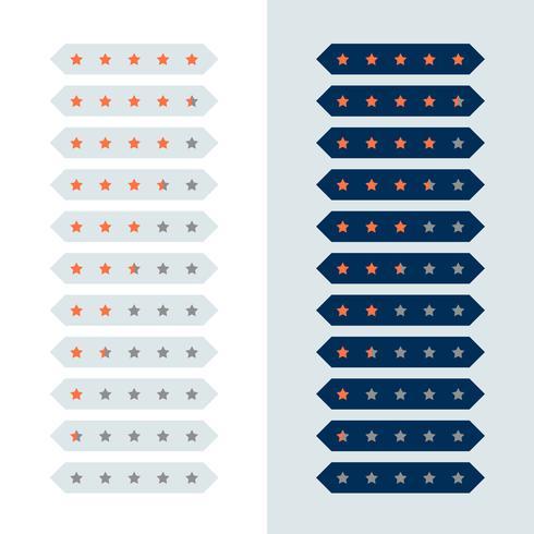 diseño geométrico moderno símbolo de calificación de estrellas