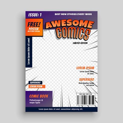 stilvolle Comic-Buch-Cover-Seite Design-Vorlage