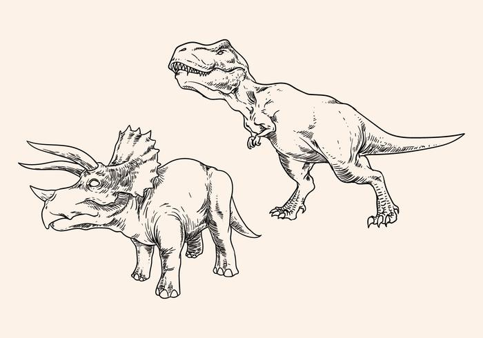 Hand Drawing Dinosaur