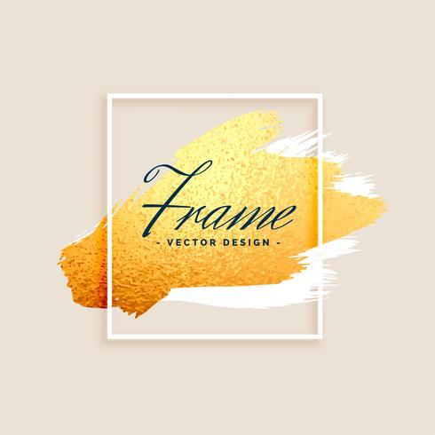 design elegante moldura dourada respingo e fundo pastel