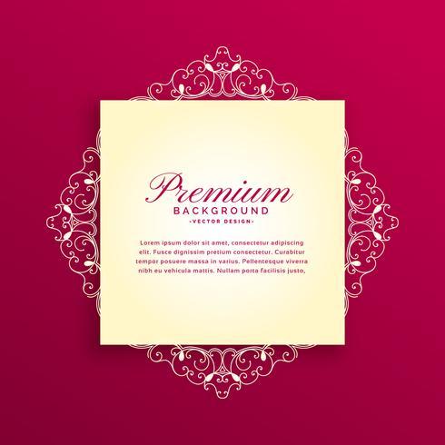 design de cartão de convite de decoração floral