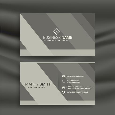 diseño de tarjeta de visita gris abstracto