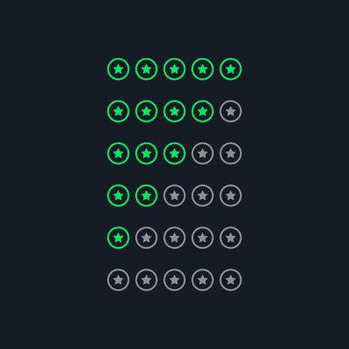 symboles d'étoiles créatifs de style néon vert