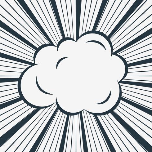 nuage comique sur fond de lignes de zoom