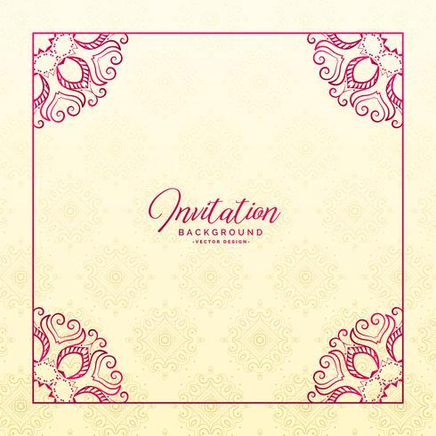 stilvoller Blumengrenzrahmen-Einladungshintergrund