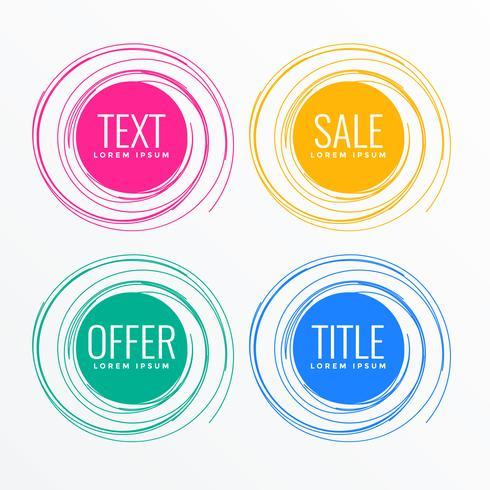 design de rótulo de venda círculo abstrato