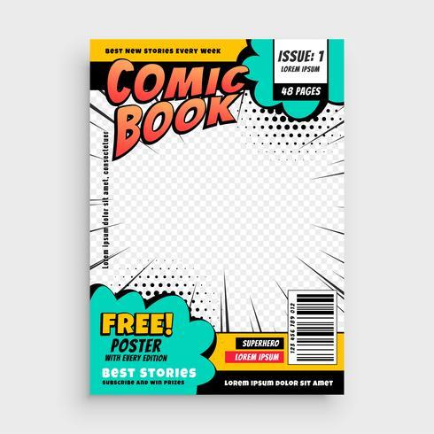 concept de couverture de page de bande dessinée