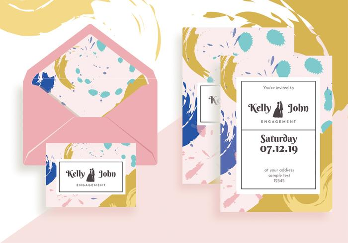 Engagement Invitation Template Vector Design