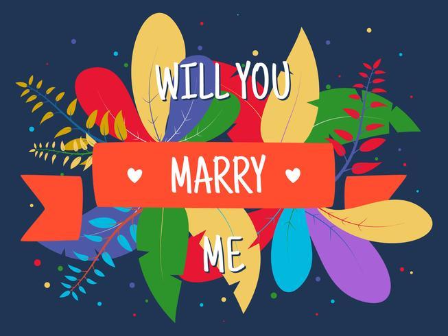 Vetores de proposta de compromisso romântico