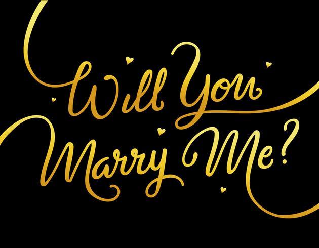 wil je met me trouwen met belettering