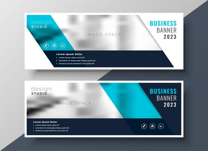 elegant business banner design with image space
