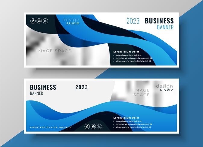 stilvolle blaue wellig Business-Banner-Design