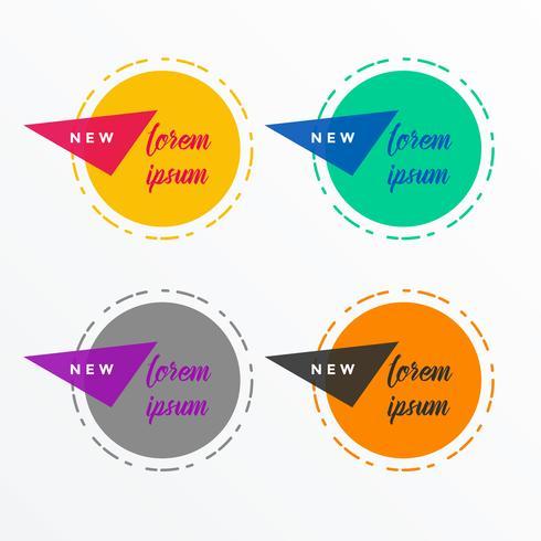símbolos abstratos círculo com espaço de texto