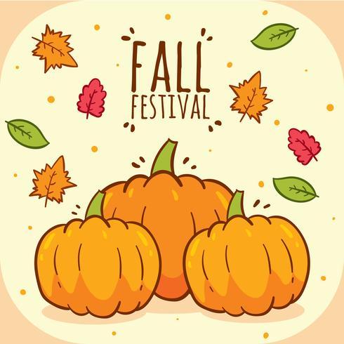 Vecteur de festival d'automne citrouilles