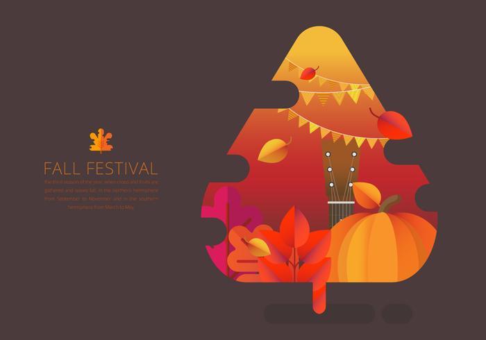 Ilustração de evento sazonal de festival de outono