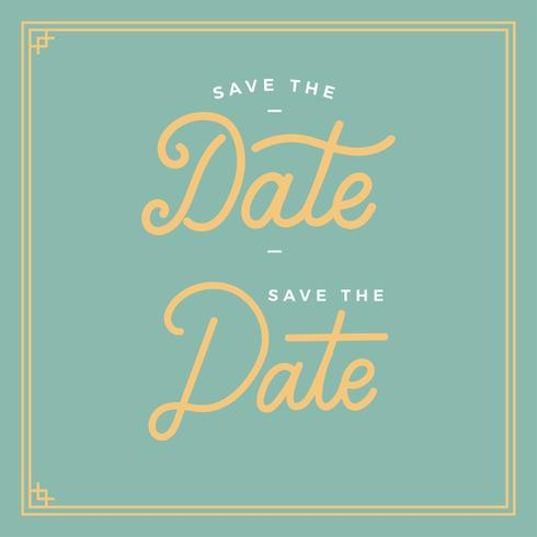 Save The Date Typography Vector