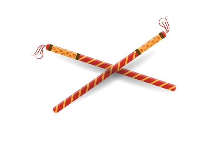 Dandiya Sticks Vector Illustration