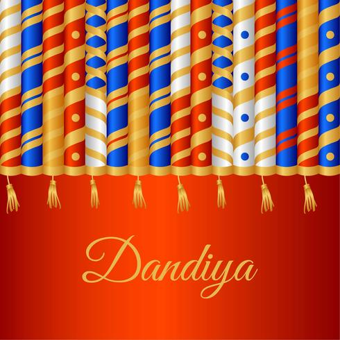 Vecteur de fond de bâton Dandiya