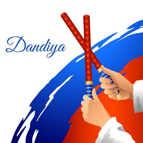 Dandiya Stick Dance Vector
