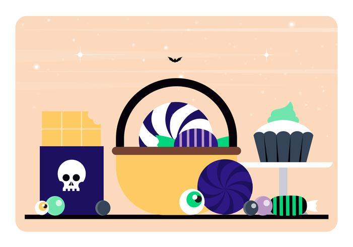 Éléments et accessoires d'Halloween de vecteur