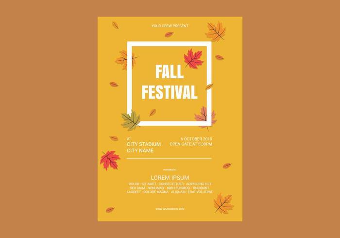 Modèle d'Affiche de festival d'automne